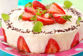 Cheesecake with strawberry — Stock Photo