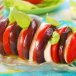 Stock Photo: Aubergine,mozzarelland tomato