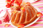 Ring cake in romantic style — Stock Photo