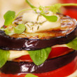 Stock Photo: Grilled aubergine,tomato and mozzarella