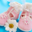 Baby shoes for girl — Stock Photo