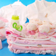 Layette for baby girl — Stock fotografie #3043001