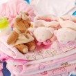 Stock Photo: Layette for baby girl