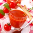 Stock Photo: Tomato soup with in glass