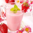 Strawberry smoothie - Foto Stock