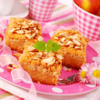 Stock Photo: Apple shortcake with almonds