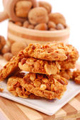 Homemade nuts cookies — Stock Photo