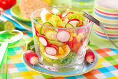 Spring vegetables salad — Stock Photo