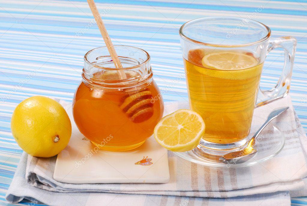 Tea with lemon and honey — Stock Photo © teresaterra #3063491