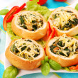 Royalty-Free Stock Photo: Rolls stuffed with spinach and eggs