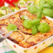 Stock Photo: Moussakwith aubergine