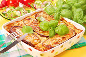Moussaka with aubergine — Stock Photo