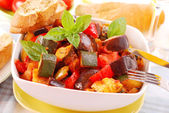 Ratatouille for lunch — Stock Photo