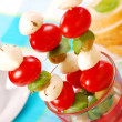 Stock Photo: Shashlik with mozzarella,tomatoes