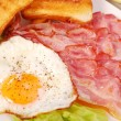 Bacon and eggs for breakfast — Stockfoto #3189293