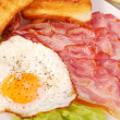 Bacon and eggs for breakfast - Foto de Stock