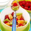Muesli with fresh fruits as diet food — Stock Photo