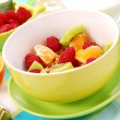 Muesli with fresh fruits as diet food — Stock Photo #3189531