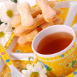 Royalty-Free Stock Photo: Tea and sponge fingers for child