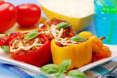 Paprika stuffed with the minced meat — Stock Photo