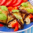 Rolled aubergine slices — Stock Photo #3262438