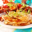 ������, ������: Grilled chicken fillet and ratatouille