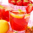 Stock Photo: Fresh strawberry and lemon compote