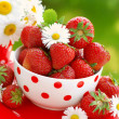 Bowl of fresh strawberries — Stock Photo #3262517