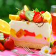 Stock Photo: Fruit marshmallow cake