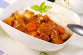 Japanese curry rice — Stock Photo