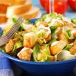 Bowl of caesar salad — Stock Photo