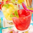 Stock Photo: Melon and watermelon juice