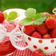 Strawberry  preserves - Stock Photo