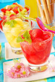 Melon and watermelon juice — Stock Photo