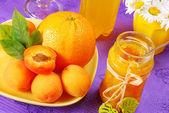 Orange and apricot jam — Stock Photo