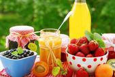 Conserves de fruits — Photo