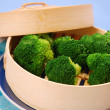 Stock Photo: Steamed broccoli
