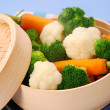 Stock Photo: Steamed vegetables
