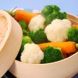Steamed vegetables — Stockfoto #3487501