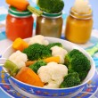 Steamed vegetables for baby — Stock Photo