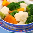 Stock Photo: Steamed vegetables for baby