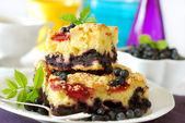 Blueberry cake — Stock Photo