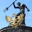Fountain of the Neptune in Gdansk ( Poland ) — Stock Photo #3544467