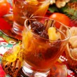 Christmas compote of dried fruits — Stock Photo