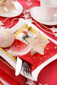 Christmas table decoration — Foto de Stock