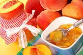 Peach preserves — Stock Photo