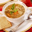 Stock Photo: Traditional tripe soup (flaki)