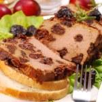 Liver pie with prune — Stock Photo