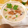 Royalty-Free Stock Photo: Mushroom soup with cream for christmas