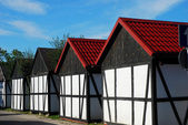 Cottages in a row — Stock Photo